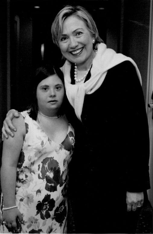 Melissa meeting hillary clinton