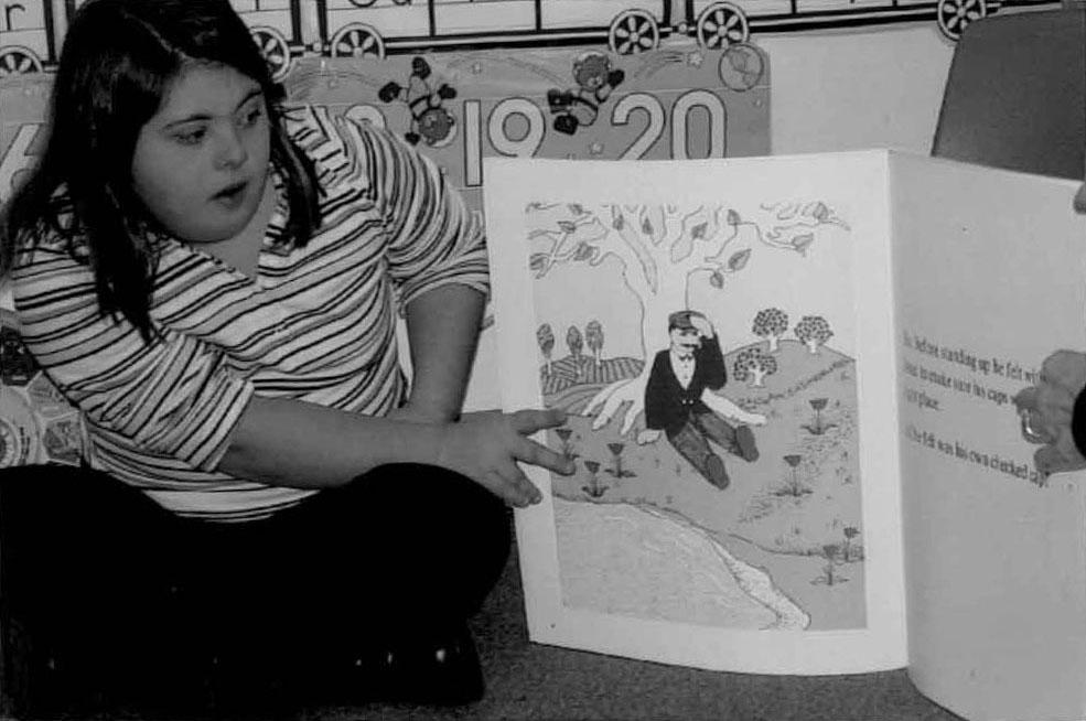 Melissa Riggio reading a book