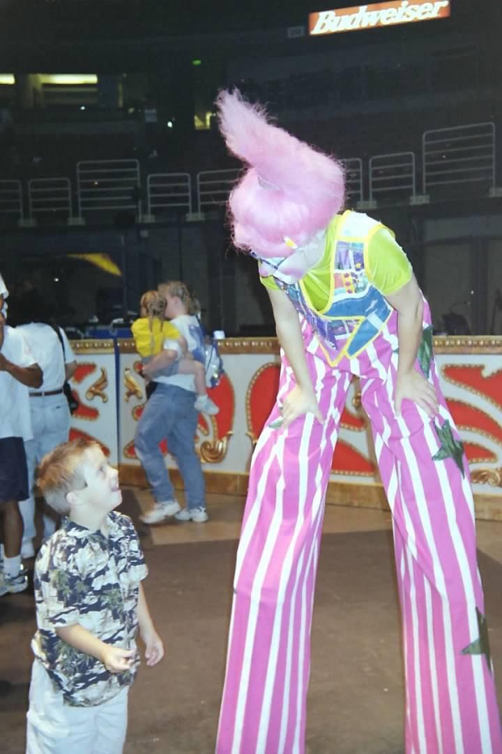 Sean meeting a clown