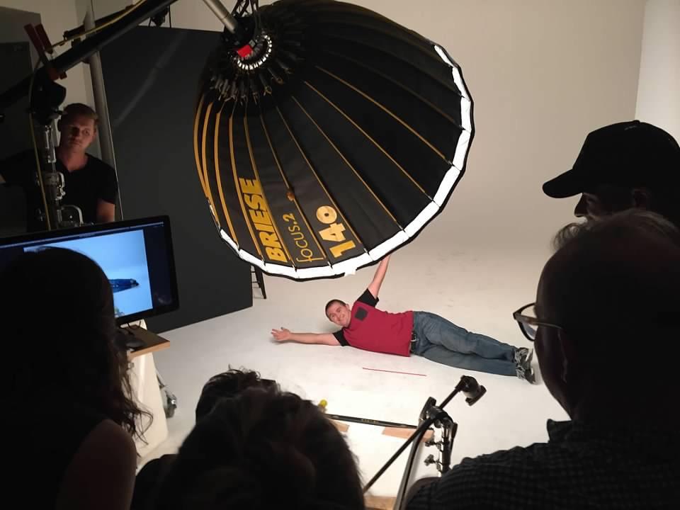 Sean posing in a photo shoot